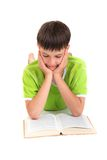 Young boy reading Royalty Free Stock Photo