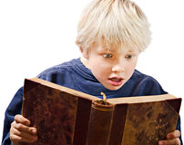 Young boy reading Stock Photography