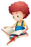 A young boy reading Stock Photography