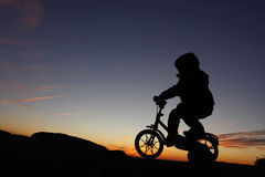 Young boy riding Stock Photo