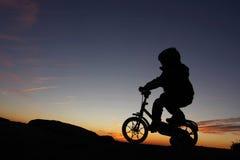 Young Boy Riding Stock Photo