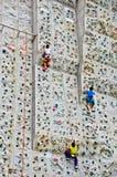 Young boy rock climbing Royalty Free Stock Image