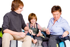 Young boy's tickling Stock Photography