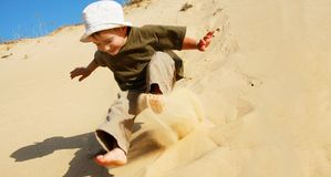 Young boy in sands Stock Photography