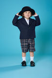 Young Boy in School Uniform Royalty Free Stock Photo