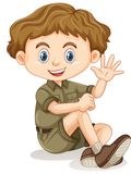 A young Boy Scout Royalty Free Stock Image