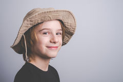Young boy scout smiling portrai Royalty Free Stock Image