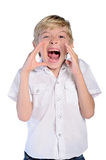 Young boy scream Royalty Free Stock Image