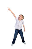 Young boy screaming Stock Images