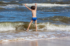 Young boy at seaside Royalty Free Stock Photo