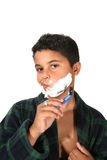 Young Boy Shaving Royalty Free Stock Photo