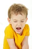 Young boy shouting Stock Photos