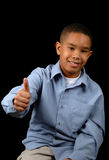 Young Boy showing Approval Royalty Free Stock Photography