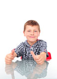 Young boy showing OK Royalty Free Stock Image