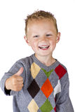 Young boy showing OK - isolated Royalty Free Stock Images