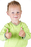 Young boy showing OK - isolated Stock Image