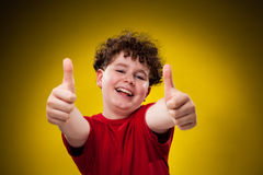 Young boy showing OK sign Stock Image