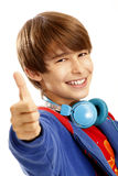 Young boy showing a thumbs up Stock Photo