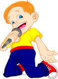 Young boy singing Royalty Free Stock Images
