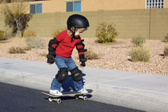Young Boy on Skateboard Royalty Free Stock Photography