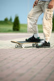Young boy with skateboard Royalty Free Stock Photo