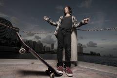 Young boy skateboarding Stock Photography