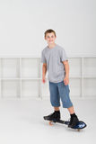 Young boy skateboarding Royalty Free Stock Photography