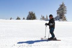 Young boy skiing Royalty Free Stock Photos
