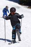 Young boy skiing Royalty Free Stock Photo