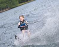 Young Boy Slalom Skier Stock Photos