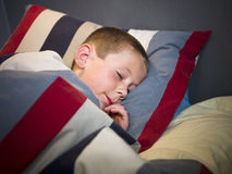 Young Boy sleeping Royalty Free Stock Photography
