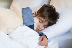 Young boy sleeping Royalty Free Stock Images