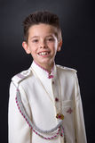 Young boy smiling in his First Holy Communion Stock Photos