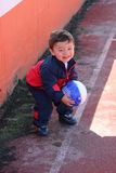 Young boy playing with soccer ball Royalty Free Stock Image