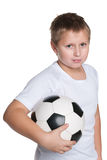 Young boy with soccer ball Royalty Free Stock Image