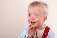 Young Boy with special needs Royalty Free Stock Photography