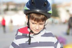 Young boy in sport helmet Stock Photos