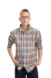 Young boy , standing hands in his pockets Royalty Free Stock Photography