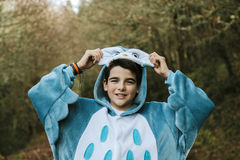 Boy in animal costume Stock Photography