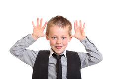 Young Boy Sticking his tongue out Royalty Free Stock Images