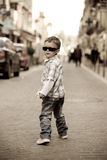 A young boy struts his stuff Royalty Free Stock Images