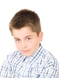 Young boy studio portrait Royalty Free Stock Photo