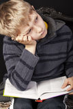 Young boy studying Royalty Free Stock Photos