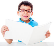Young boy studying Royalty Free Stock Photography
