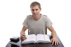 Young boy studying Stock Photography