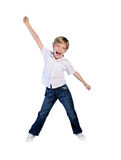 Young boy succeed Royalty Free Stock Image