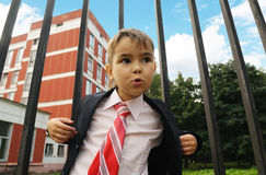 Young boy in the suit Stock Photography