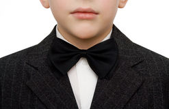 Young boy in suit. Handsome young boy in suit. White background Stock Image