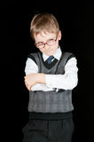 Young boy in suit Stock Images
