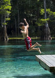 Young Boy Summer Fun - Morrison Springs Royalty Free Stock Image